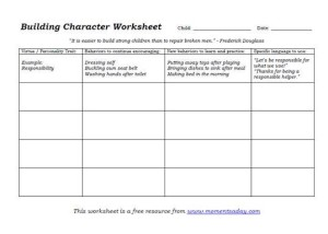 building character worksheet