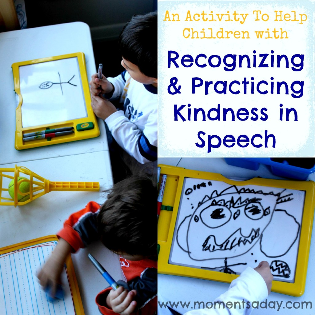 Teaching kids to use kind words