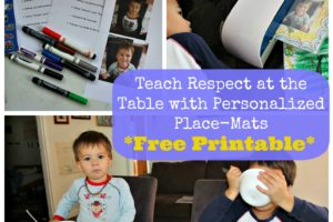 {Homemade Place-Mat Printable} Encourage Respectful Behavior At The Table