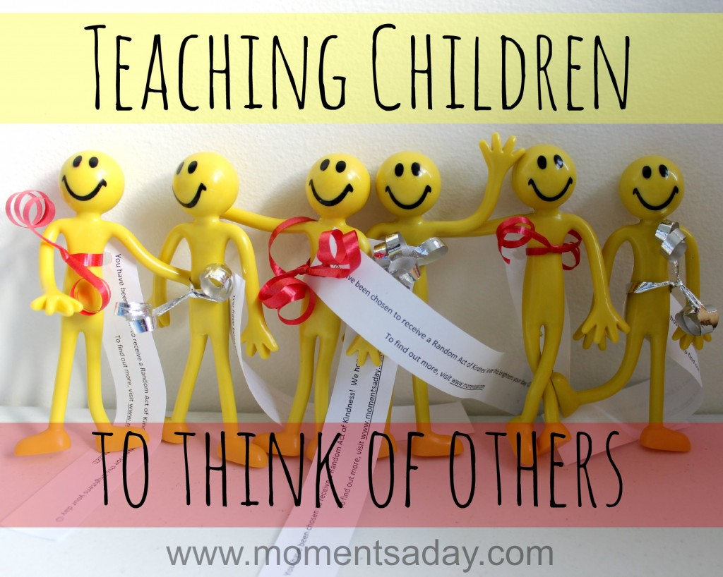 Teach kids to think of others with a fun random act of kindness