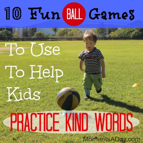 Practicing kind language while playing fun ball games
