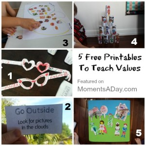 5 Printables To Teach Values
