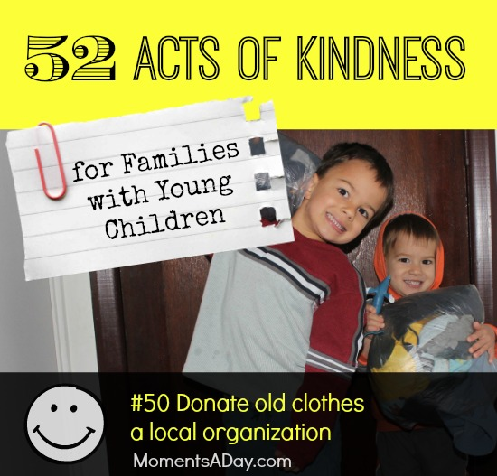 52 Acts of Kindness - #50 Donate old clothes a local organization
