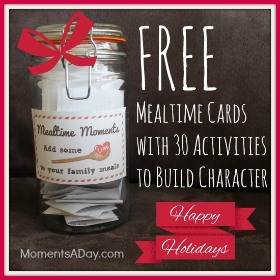 Free Mealtime Moments Happy Holidays