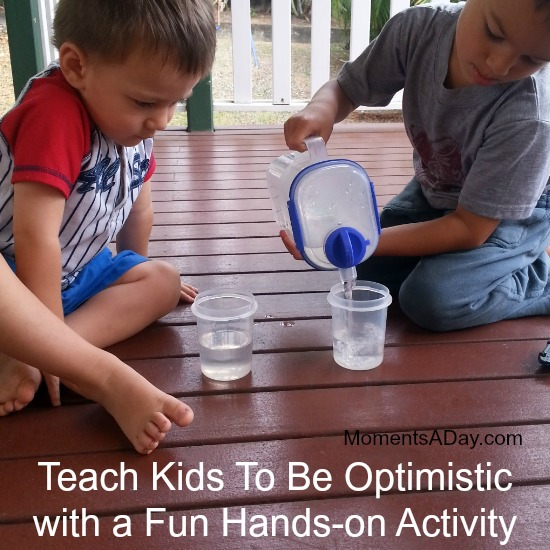 Teach Kids To Be Optimistic with a Fun Hands-on Activity