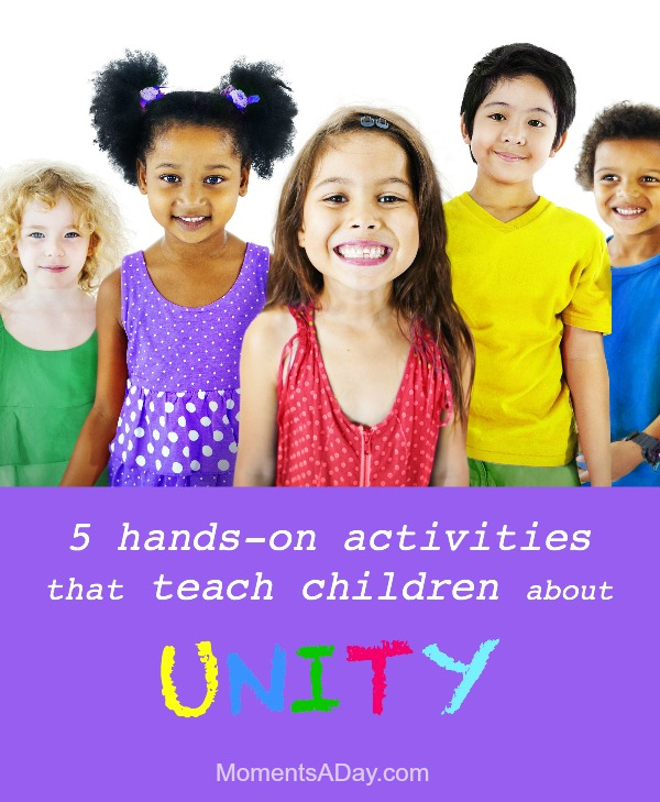 Five fun ways to help kids learn the concept of unity in diversity great for classroom or at home