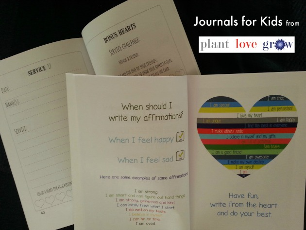Journals for Kids from Plant Love Grow