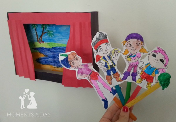 DIY Jake and the Neverland Pirates Puppets and Theatre