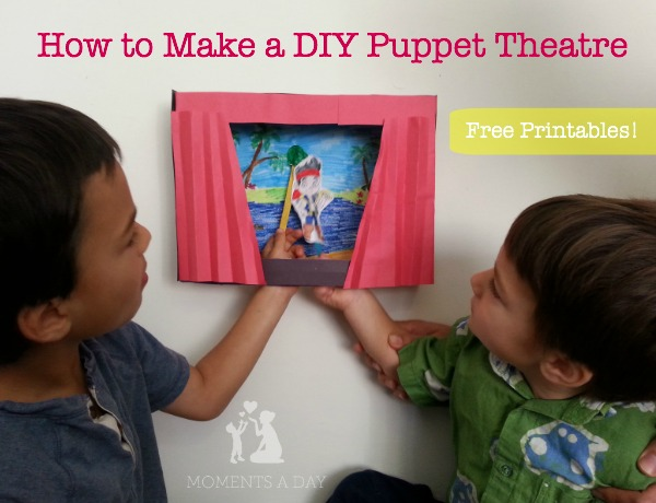 How to make a DIY puppet theatre including free printables