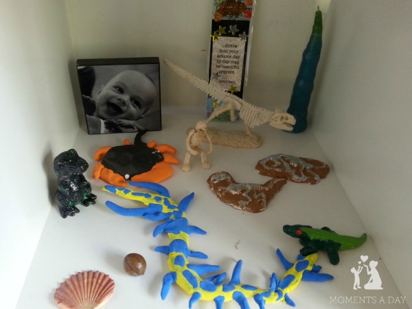 Kids display of favourite crafts