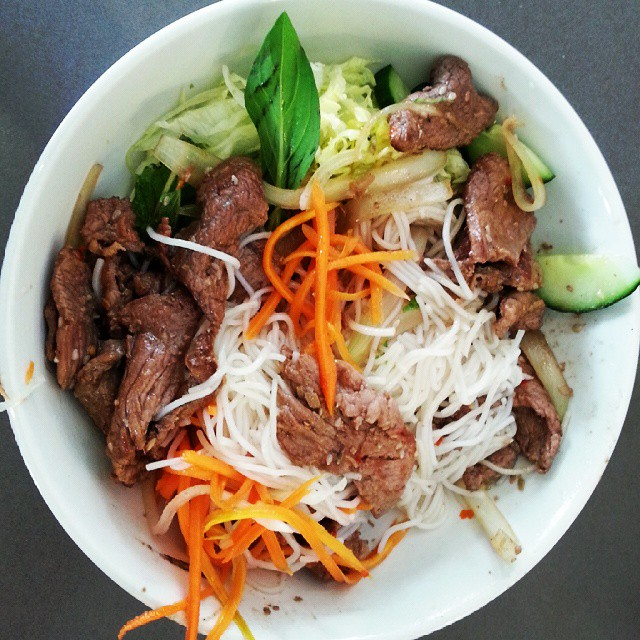 Yummy lunch date with my love... was halfway through digging in when I decided to get a photo lol. Need to try to make this at home, was delicious!! #vietnamese #salad #lunchdate