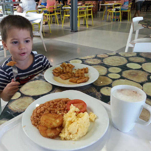 Breakfast at Ikea with Mr 3... about to finish our baby shopping hooray! #ikea #26weeks