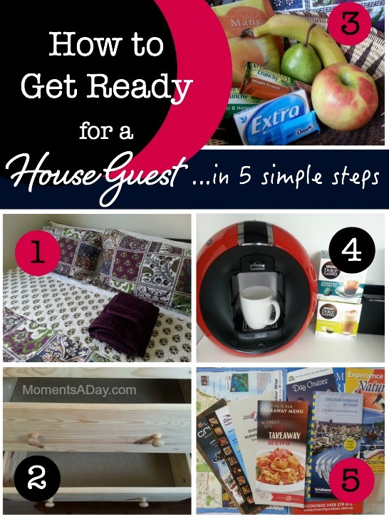 Five simple steps to get ready for a house guest