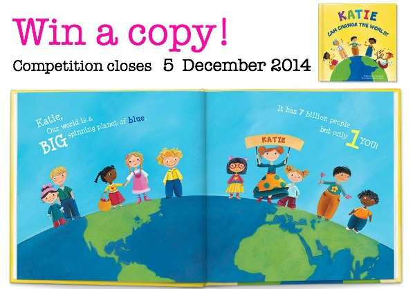 Win a copy of the I Can Change the World personalised book