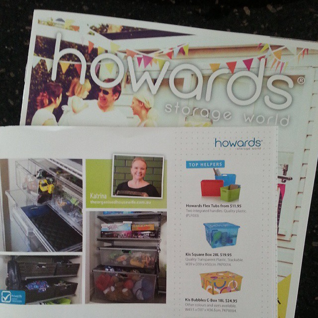 Sat down to read this magazine I picked up at Howards Storage World after doing some major shopping there the other day, and look whose lovely face I see :) Great advice as always, Kat @organised_house #timetoorganise #shopping @howardsstorage