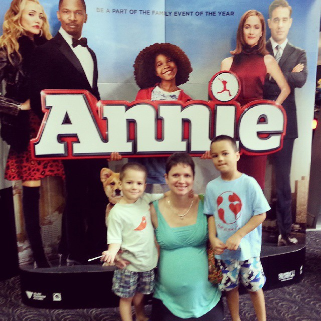 Annie!! #movies #cinema #makingmemories #annie #weekends