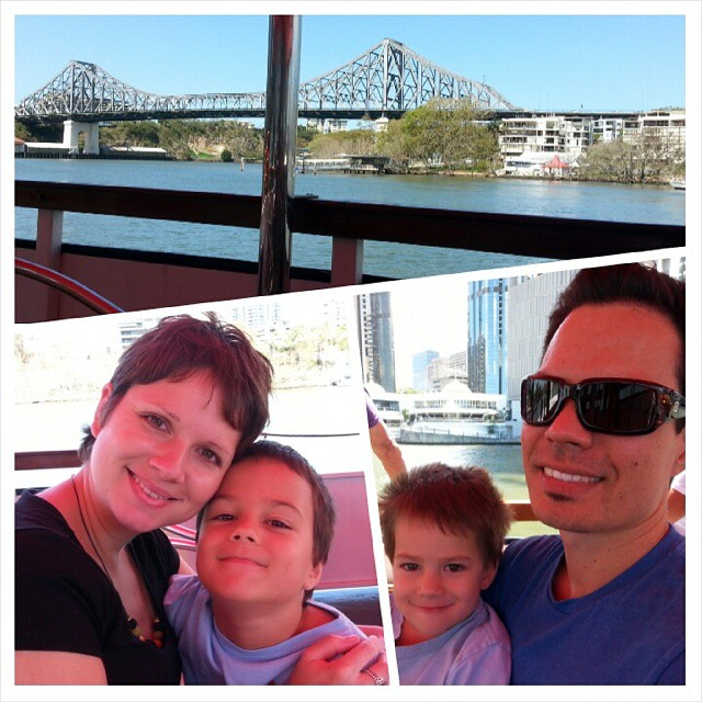 Lovely river cruise this afternoon ♡ #familytime #schoolholidays #brisbane