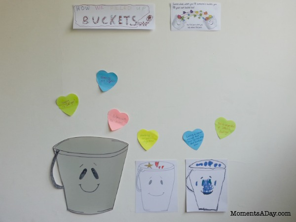 How to fill your bucket activity Kindness Wall