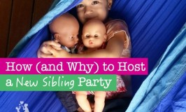 If you are expecting a new baby here are some tips to ease the transition with a new sibling party