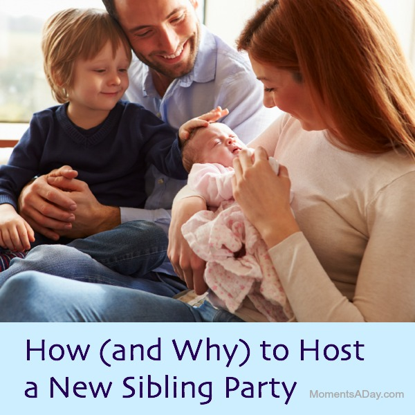 New Baby parties can be a great way for older siblings to celebrate their new role in the family