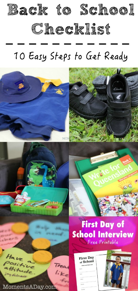 10 Steps to Get Ready for the First Day of School