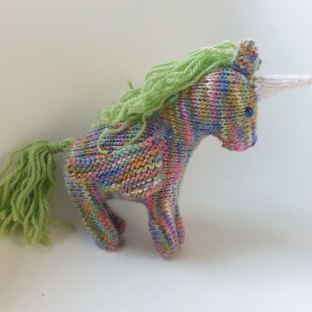 My mother finished this gorgeous unicorn for baby today - thanks @happywhimsicalhearts for the inspiration :) x #diy #knitting #handmadegift #unicorn