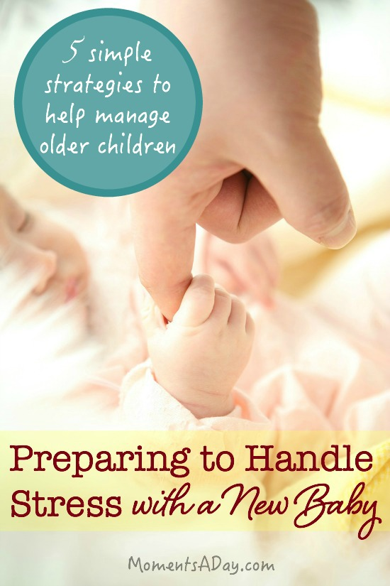 Five practical ideas to handle stress with a new baby in the home especially for older children