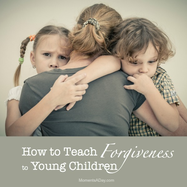 Ideas and resources for teaching the concept of forgiveness to young children