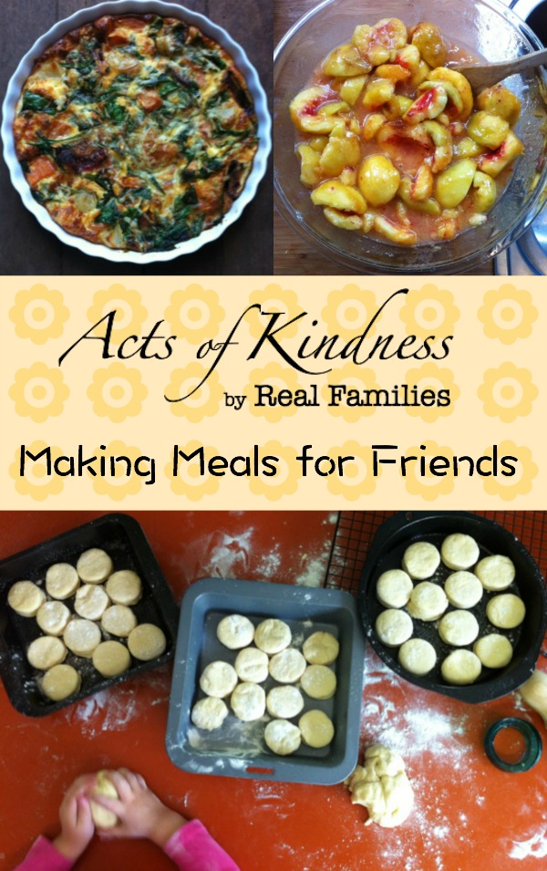 A series featuring acts of kindness by real families, this instalment focuses on making meals for friends