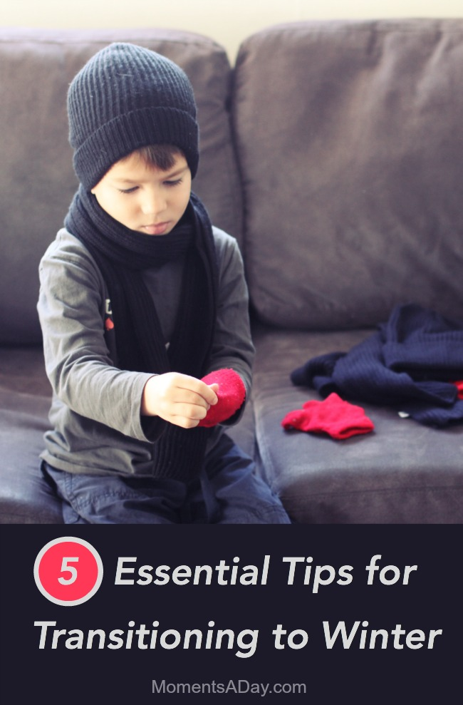 Five easy but essential ways to ease the transition to winter for young families