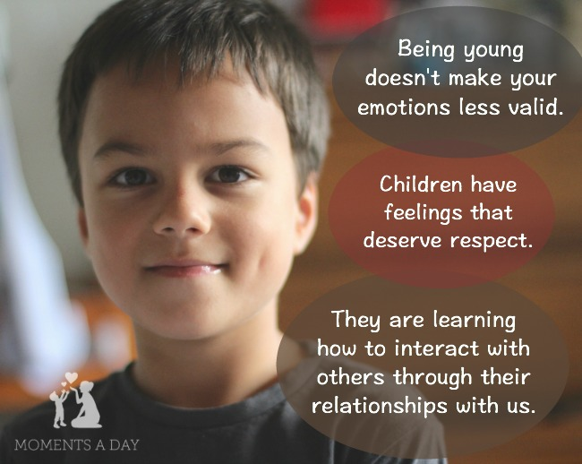 Respecting children and their feelings