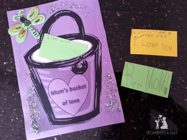 Bucket filler crafts to learn about kindness