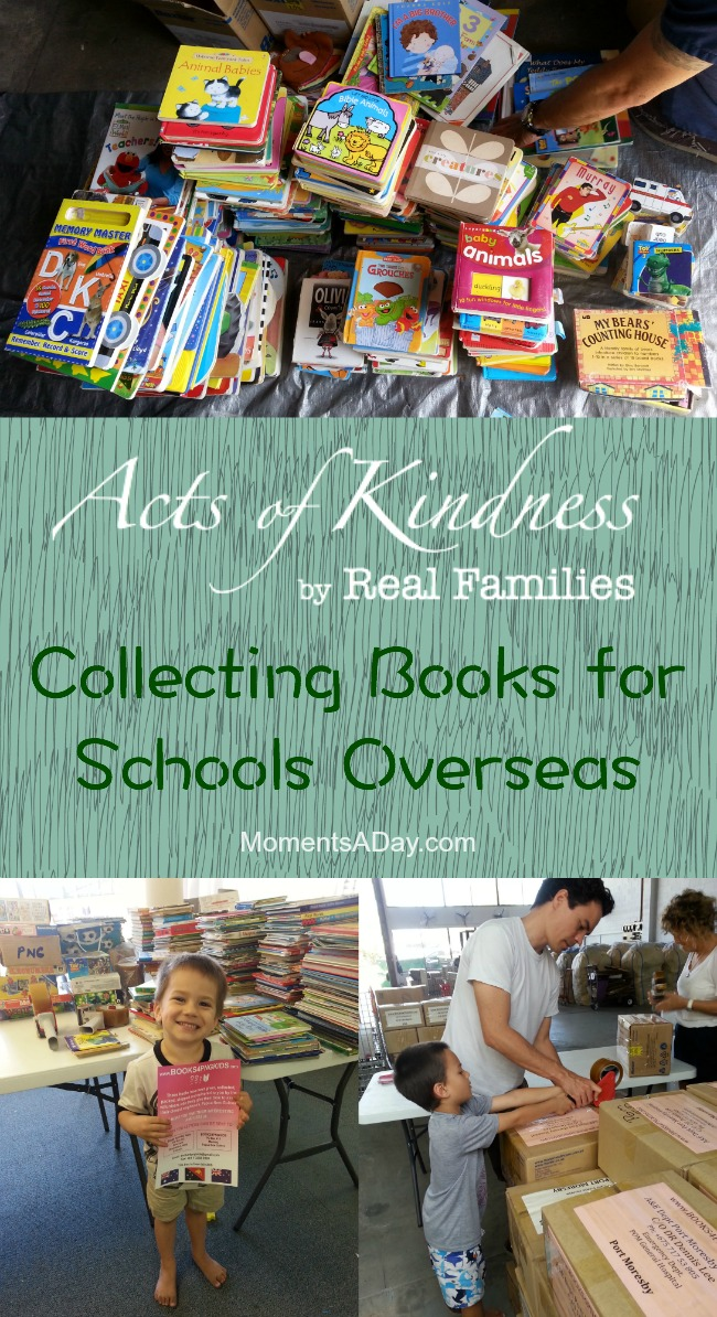 Family Volunteer Project Collecting Books for Schools Overseas