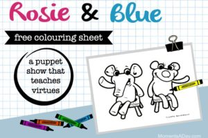 """Rosie & Blue"" Free Printable Colouring Sheet"