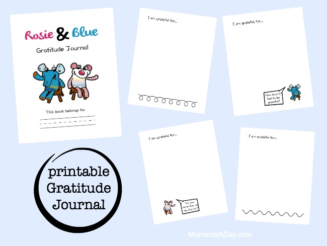 Rosie and Blue Gratitude Journal