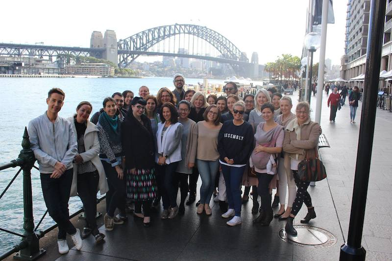 Bloggerati group shot in front of the Sydney Habour Bridge