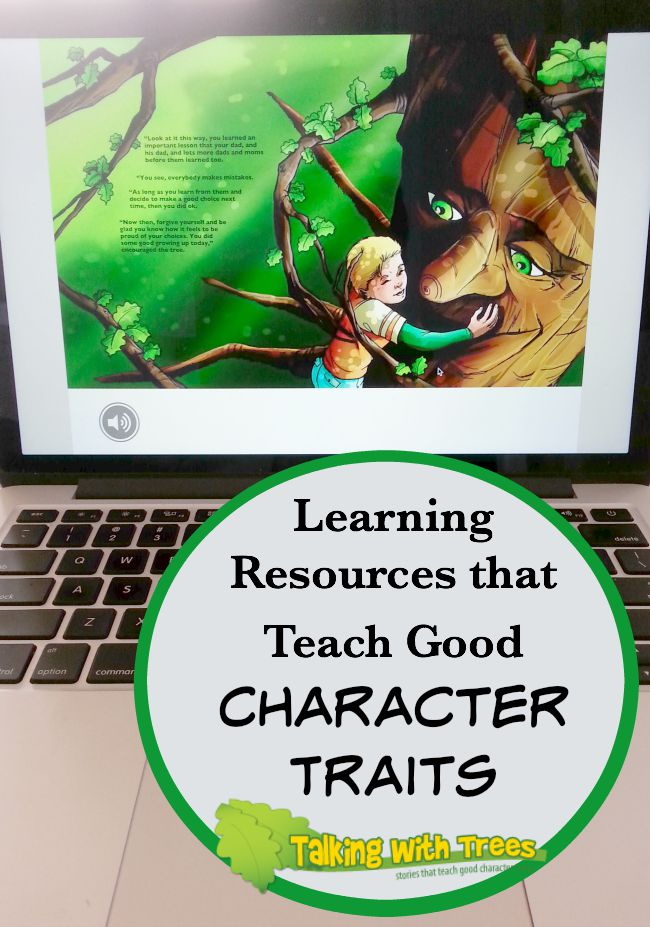 Books and activities from Talking With Trees that help kids build character and learn to make good choices