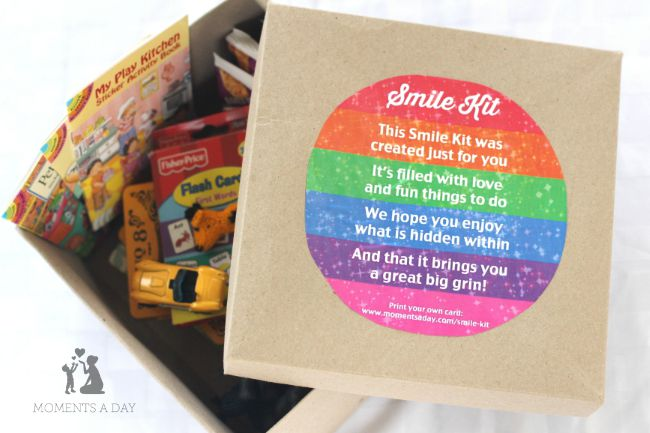 Smile Kit for new siblings hospital patients kids who have experienced loss etc