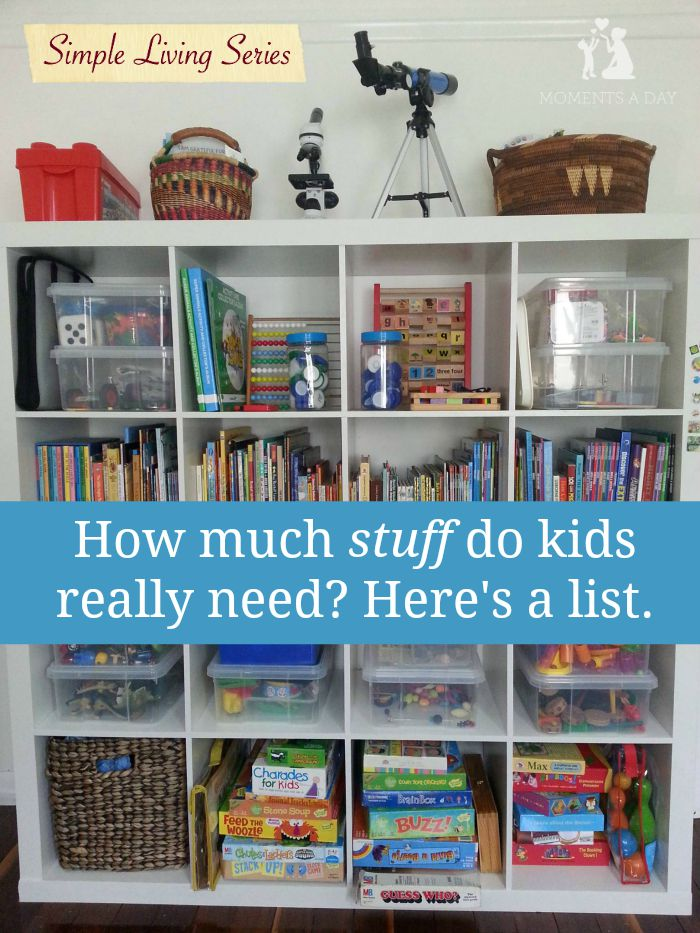 Simple living kid stuff moments a day for Minimalist living with children