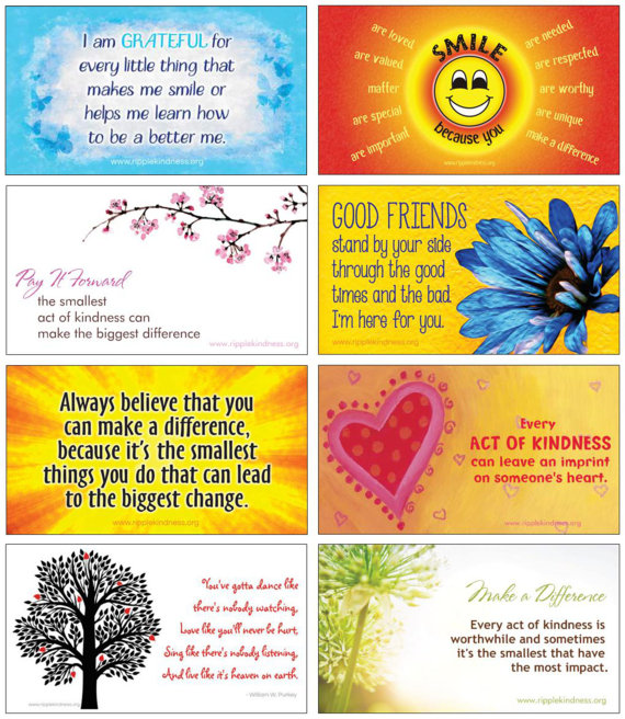 Magnets with inspiring messages make a sweet gift
