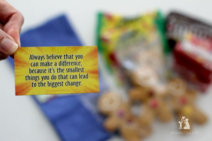 Magnets with inspiring messages plus other gifts that are perfect for teachers or volunteers