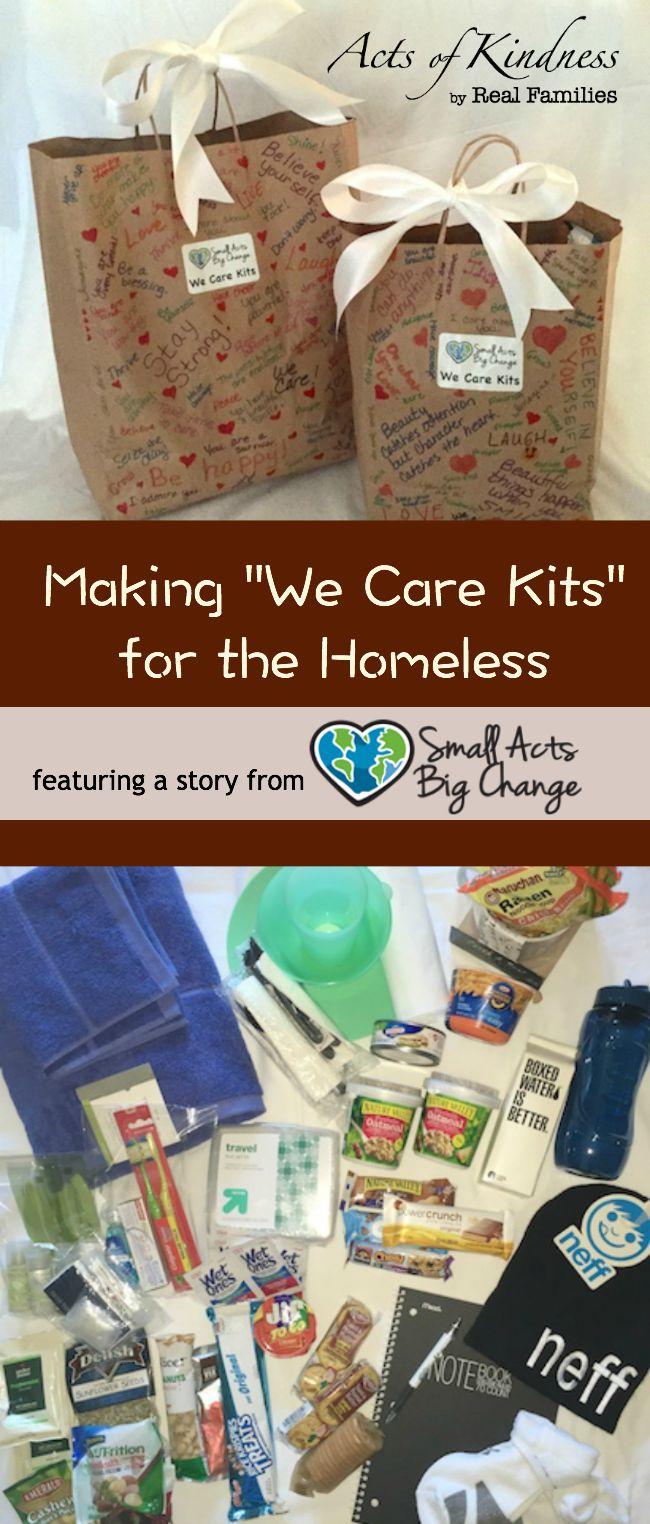 Project idea for kids to get involved in helping the homeless population