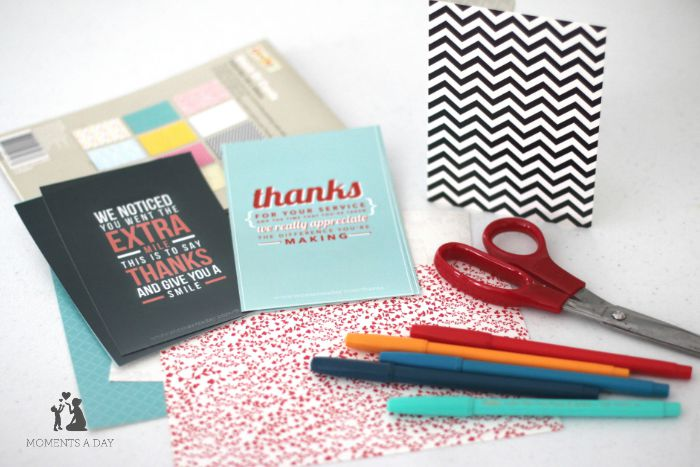 Putting together gratitude goodie bags is a fun project for families to do together