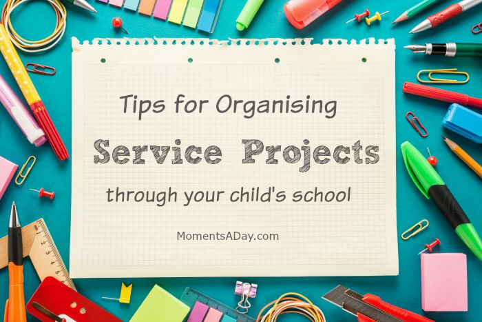 School is a great place to fundraise and do other service projects - here are some tips to get started