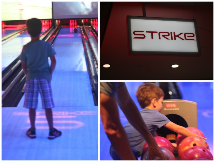 Bowling is a great family activity for kids over age 4