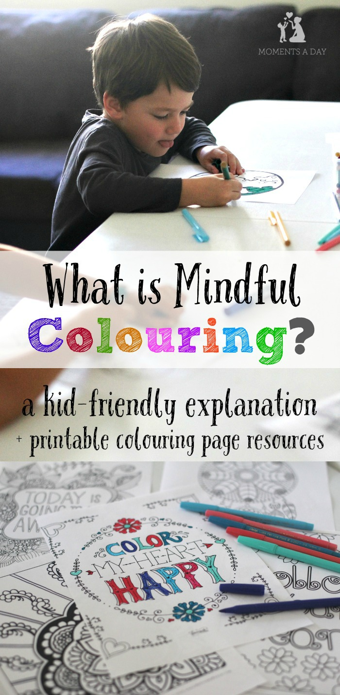 How To Explain Mindful Colouring To Kids Moments A Day