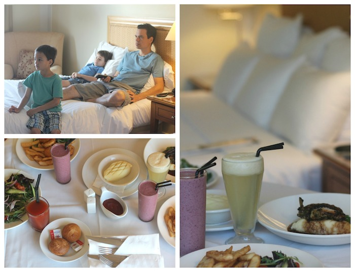 Relaxing room service is perfect for a family vacation especially when it has kid friendly options