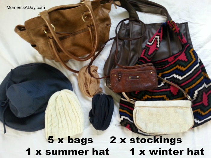 Bags and hats for a capsule wardrobe