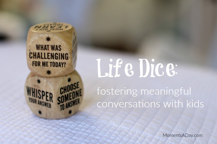 Cute little resource to foster meaningful conversations with kids