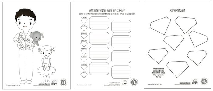Colouring and activity pages for Mason's Greatest Gems